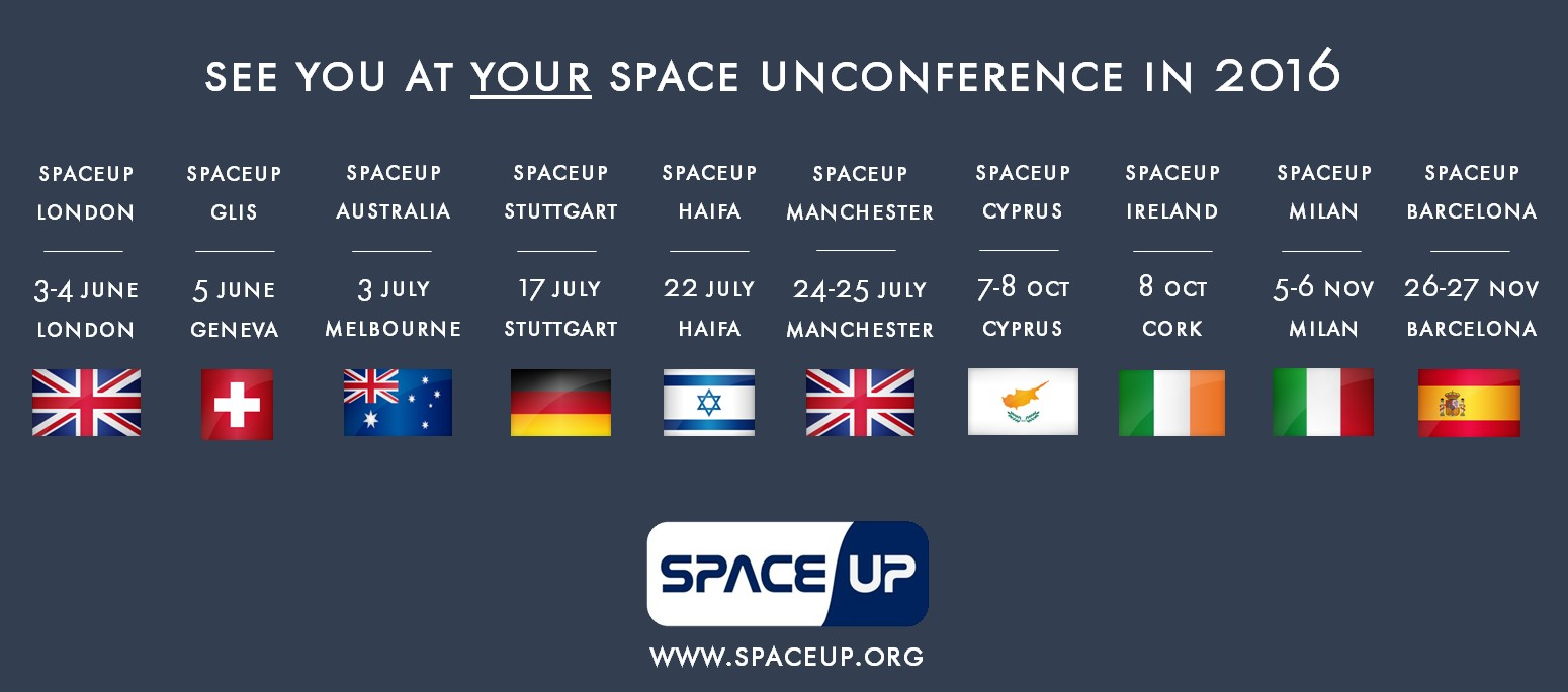 Upcoming SpaceUp Unconferences in 2016